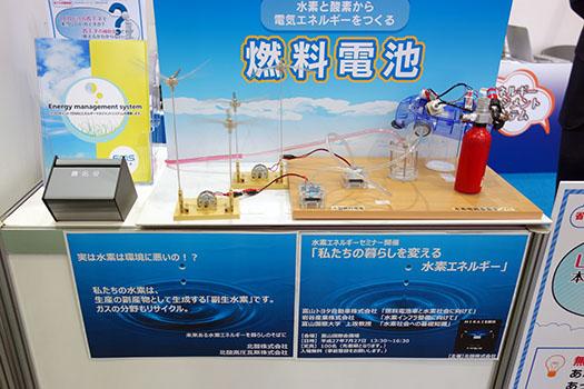 北酸株式会社の水素に関する展示